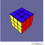 Canvas 3D によるルービックキューブ